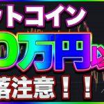 【仮想通貨】ビットコイン暴落注意!!170~180万円