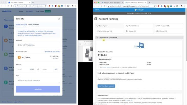 【Python + ブロックチェーン】 #3 ブロックチェーンを使った仮想通貨の送金システムのデモイメージ