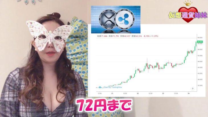 リップル70円台突破!XRP保有者へのSparkトークン付与開始!XRP
