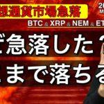 【ビットコイン&リップル&ネム&イーサリアム】仮想通貨市場急落。その理由と今後の戦略について