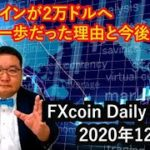 ビットコインが2万ドルへあと一歩だった理由と今後の展望(松田康生のFXcoin Daily Report)2020年12月1日