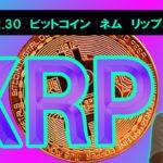 【ビットコイン、ネム、リップルチャート分析】BTC300万円間近!!XRP環境変化で反発予兆か。