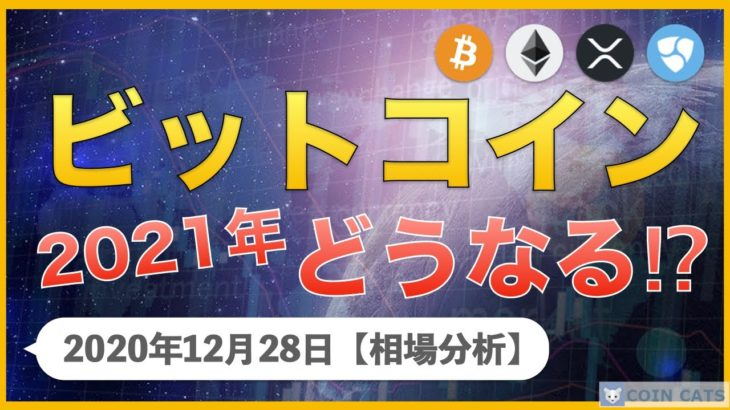 【BTC、XRP、ETH、XEM】ビットコイン300万円間近!2021年はどうなる!?【12月28日 相場解説】