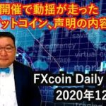 電話G7開催で動揺が走ったビットコイン、声明の内容と展開(松田康生のFXcoin Daily Report)2020年12月8日