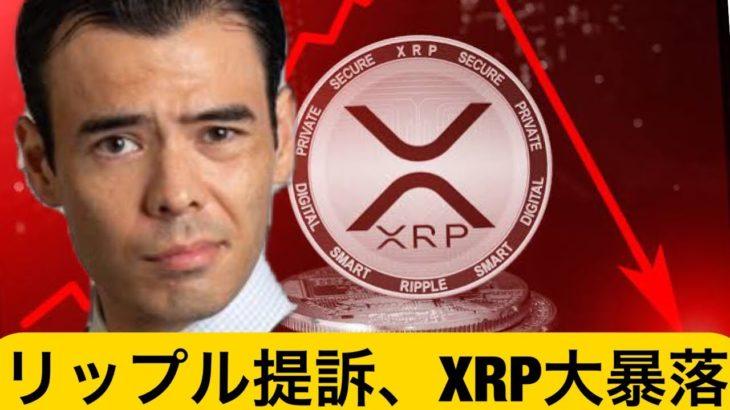 米SECがリップル提訴、XRPの大暴落!