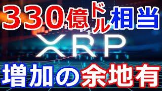仮想通貨リップル(XRP)まだまだ増加の余地あり『330億ドル相当』