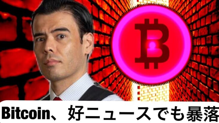 ビットコイン、好ニュースでも10%暴落!