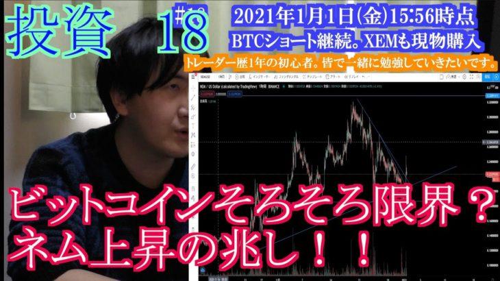 【投資】#18 ビットコインそろそろ限界?ネム上昇の兆し!
