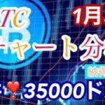 仮想通貨BTC ビットコインの天井は35000ドル‼️とした‼️ リップル、、、はピンクライン割ったまま😭