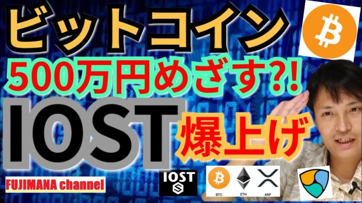 【仮想通貨ビットコイン, リップル, イーサリアム, ポルカドット, NEM, IOST, 】BTC再び500万円めざす?IOST&DOTが爆上げ