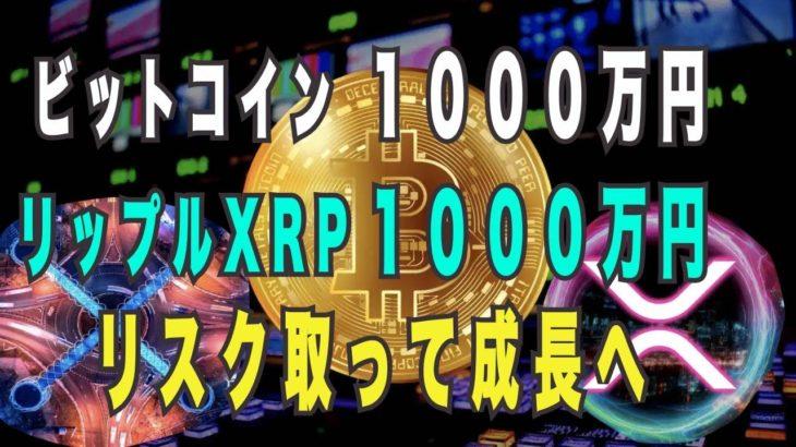 リップル XRP 爆上げ ビットコイン 1000万円 余裕 リスク取れない人は格差社会で敗北 ショートスリーパー あっちゃん アルトコイン危険 バブルは継続する