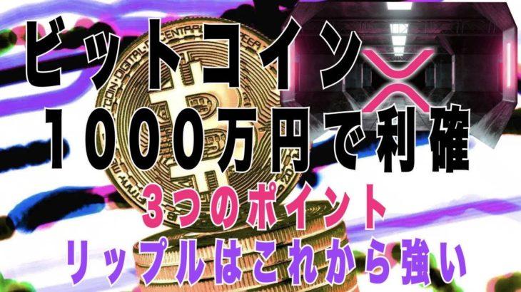 リップル XRP 2021年爆益 ビットコイン 1000万円 獲得する3つの方法!ショートスリーパーあっちゃん