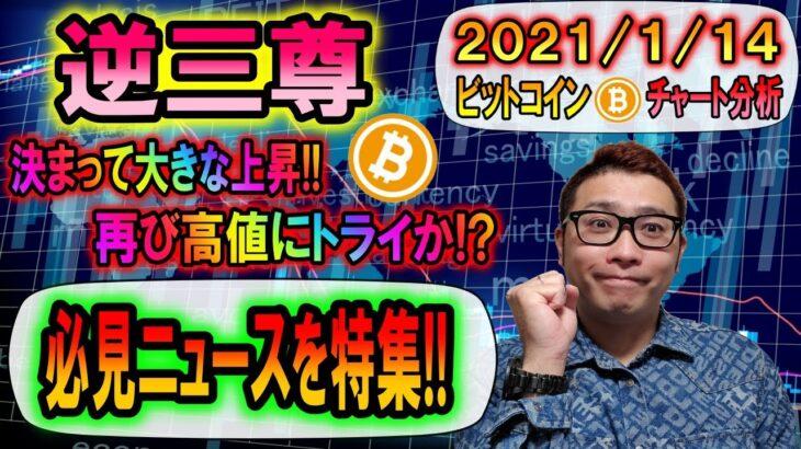 【ビットコイン&仮想通貨】逆三尊からの大きな上昇!!次のターゲットはココ!!☆必見☆超重要ニュースを特集!!