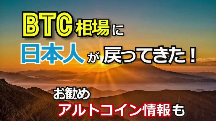 ビットコイン相場に日本人が戻ってきた【おすすめアルトコイン情報も!】