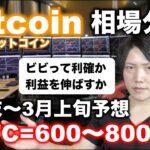 ビットコイン2月末〜3月上旬予想価格600〜800万円。バブル崩壊に警戒しつつもまだまだ上昇すると考える理由。アルトも放置で上がる予想。