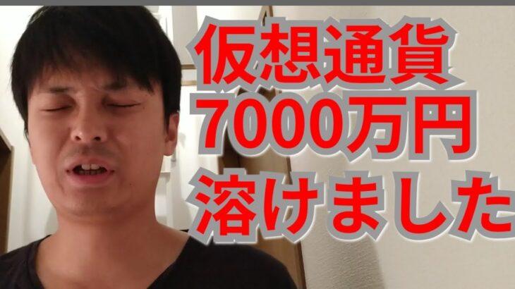 【悲報】仮想通貨で2日間で7000万円溶けました【オワタ?!】
