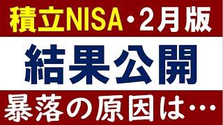 【2月最新】積立NISAの結果報告!S&P500急落の影には…?