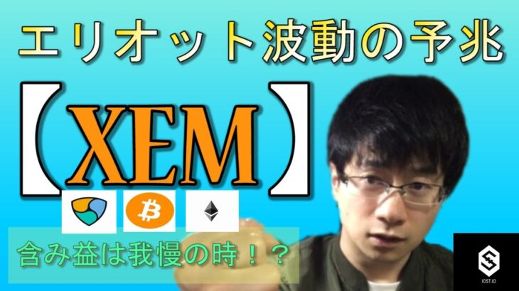 【仮想通貨ビットコイン,イーサリアム,XEM,IOST】XEMエリオット波動の第二波の予兆