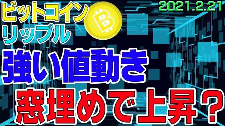【ビットコイン&リップル】仮想通貨 600万超え!強すぎるビットコイン。調整は全くないのか?!〈今後の値動きを初心者にもわかりやすくチャート分析〉2021.2.21