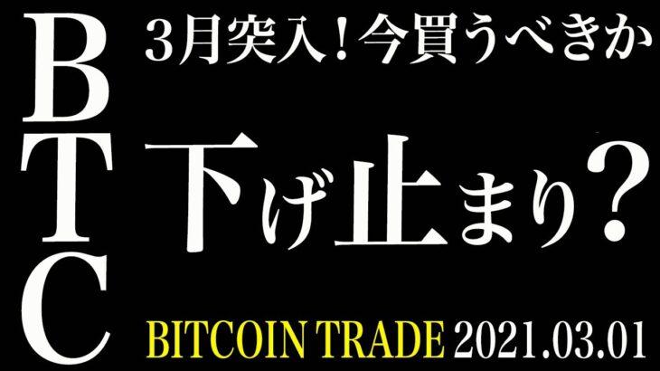 【BTC】3月突入!ビットコイン下げ止まり!?今は買うべきかを考察!【ビットコイン 仮想通貨相場分析・毎日更新】