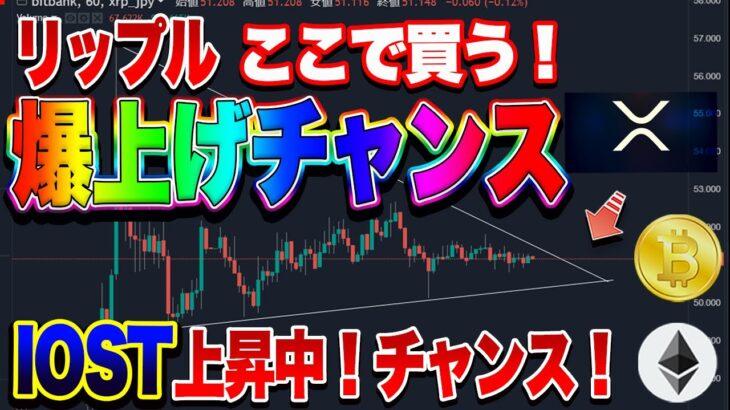 【仮想通貨】ビットコインまだ上昇するの?IOST上昇中!リップル爆上げの予感!?