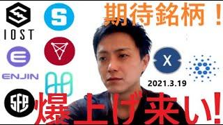 仮想通貨IOST,エンジンコイン,SAND,CHZ,セーフパル,ハーモニー,XDC,ADA2021 3 19銘柄分析