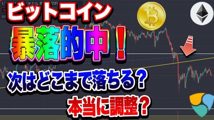 【仮想通貨】ビットコイン暴落!予想的中!次はここまで落ちる!