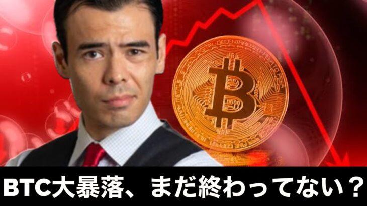 ビットコイン19%大暴落、まだ終わってない?
