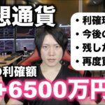 仮想通貨+6500万円利確しました。今後の投資戦略について。