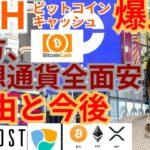 【仮想通貨BTC, ETH, XRP, IOST, NEM, BCH】ビットコインキャッシュ爆上げ‼️一方で仮想通貨全面安の理由と今後