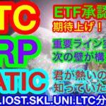 【仮想通貨 BTC.ETH.XRP.IOST.MATIC.SKL.UNI.LTC】ビットコインが突然の価格上昇❗️要因はこれかな〜❗️❓PolygonがDefiやNFTに侵食中🤣重要8通貨の分析👍