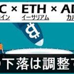 【ビットコイン×ETH×ADA】バブルはまだ終わらない。ETHの規則性を解説。この下落は単なる調整。