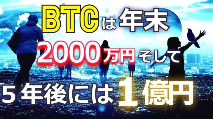 ビットコインは年末までに2千万円、そして5年後には1億円