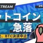 【緊急生放送】ビットコイン急落 テスラ社BTC決済中止