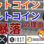 【仮想通貨BTC, ETH, XRP, IOST, DOGE, SHIB】ビットコイン&アルトコイン大暴落の理由と戦略はコレ
