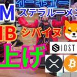 【仮想通貨BTC, ETH, XRP, XLM, IOST, SHIB】ステラルーメン&シバイヌ(shiba inu)爆上げ‼️🚀