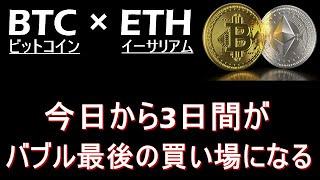 【ビットコイン×ETH】週末にかけて上昇する。5月のイーサは凄まじい上昇になる。