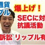 仮想通貨 リップル 爆上げ↑ SEC訴訟リップル有利に!SECに対して抗議活動!