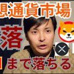 【仮想通貨BTC, ETH, XRP, IOST, SHIBA INU】暴落💣️💥ココまで落ちる🙍⤵️