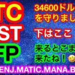🎉ニュース無し‼️笑🎉 【仮想通貨 BTC.ETH.IOST.ENJ.MATIC.MANA.SFP.BCH】