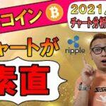 【仮想通貨ビットコイン&アルトコイン分析】ビットコインのチャートが素直で分かりやすい!!利確&損切ラインが明確!!