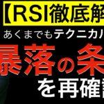 【RSI徹底解説】暴落の条件を再確認(あくまでもテクニカル分析で)