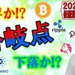 【仮想通貨ビットコイン&アルトチャート分析】上昇か下落か!?分岐点は今だ!!刮目せよ!!