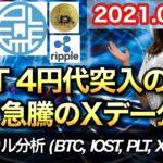 仮想通貨 テクニカル分析【8/13 今後の予想(BTC、IOST、XRP、PLT)】