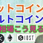 ビットコイン アルトコイン 今の相場はこう見る❗【仮想通貨 BTC ETH XRP IOST SANDBOX チャート分析】