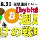ビットコイン週足確定に向けてのトレード戦略。Bybit銘柄流し分析。