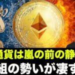 仮想通貨の勝ち組の勢いが凄すぎる!ビットコインは嵐の前の静けさか?