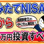 【やり方も解説】つみたてNISAで今から40万円、満額投資すべき?