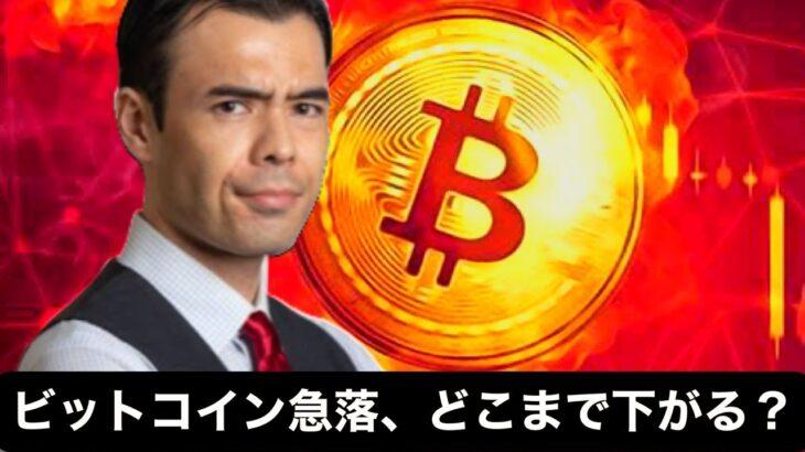 ビットコイン急落、どこまで下がる?