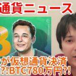 テスラ 仮想通貨決済 を再開か?! ビットコイン 780万円まで様子見?!【仮想通貨 ニュース】